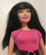 BARBIE Doll brown hair blue eyes open smile wearing top & shorts - $24.99