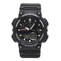 Casio Men's AEQ110W-1AV Analog and Digital Quartz Black Watch - $39.84