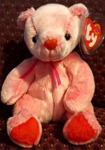 TY BEANIE BABIES 2001 SN 4398 – Romance the Bear – RETIRED – MWMT – 6 in... - $9.65