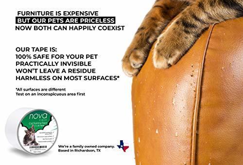 Nova-Fiber Scratch Deterrent Cat Training Tape, 3 inch x 30 Yards, Stop Your pet
