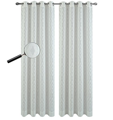 Urbanest 54-inch by 63-inch Portland Set of 2 Sheer Curtain Drapery Panels with