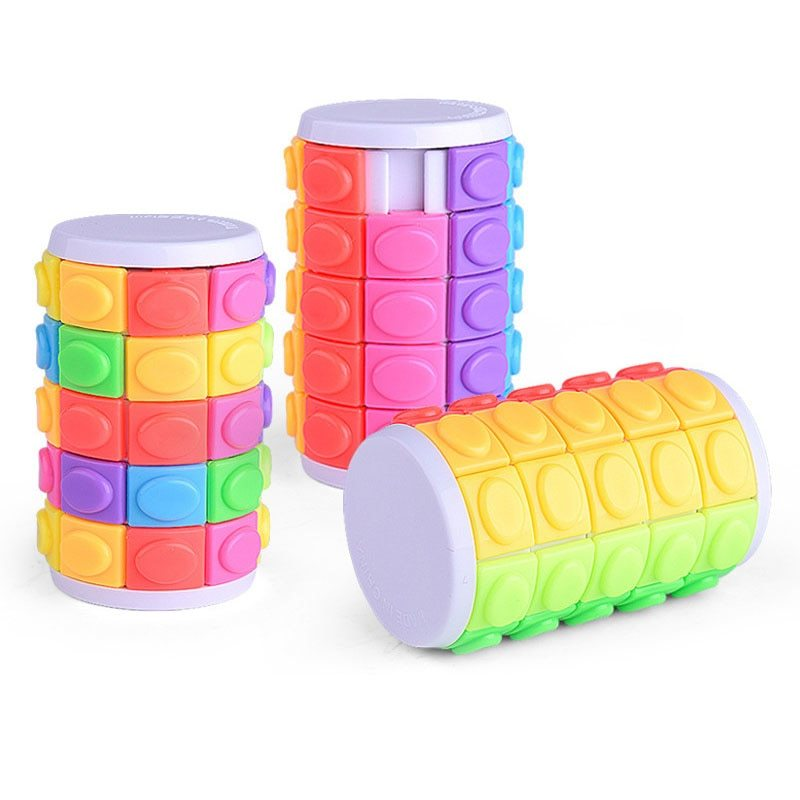 Zzle decompression fingertip magic cube diy cylinder puzzle intelligence cube stress relieve toy