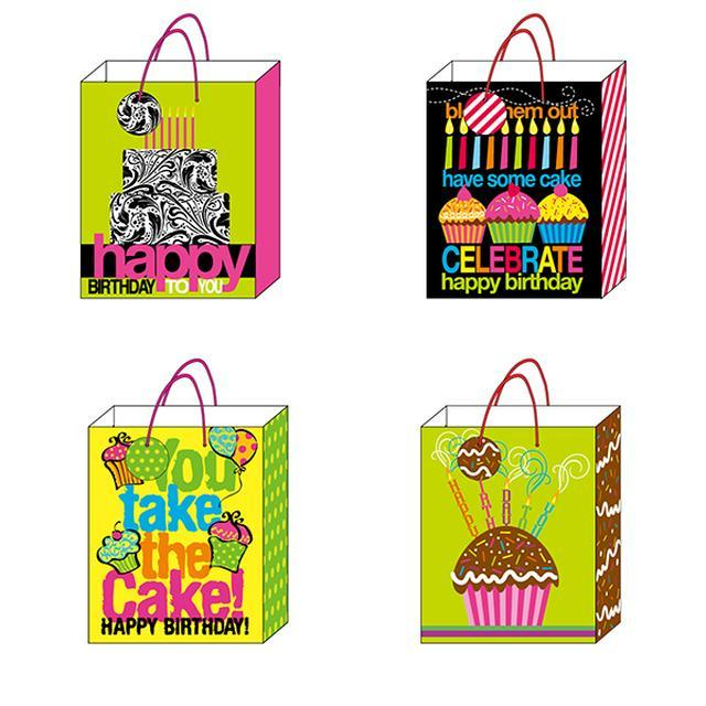 7 1/2W x 9H x 4G Medium You Take The Cake Matte Gift Bag With Hologram Effects,