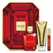 Sexy Ruby by Michael Kors Perfume Gift Set - EDP Spray + Lotion + Rollerball - $89.99