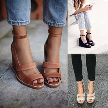 women Sandals Summer Style high heel Platform Open toe Wedge Sandals