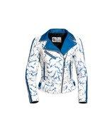 Women Tie Dye Biker Leather Jacket - $129.00
