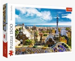 "NEW Trefl Puzzle Jigsaw 1500 Pieces Tiles ""Park Güell, Barcelona"" FREE S... - $53.89"
