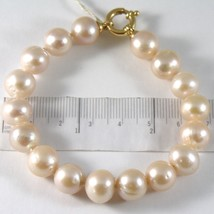 BRACELET YELLOW GOLD 750 18K,STRING OF PEARLS PINK FISHING DIAM 11 MM,LO... - $449.61