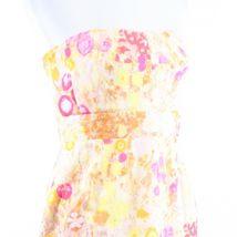 Multicolor floral print 100% cotton J. CREW sun dress 6 image 4
