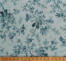 Something Blue Edyta Sitar Bouquet Flowers Cotton Fabric Print by Yard D... - $12.49