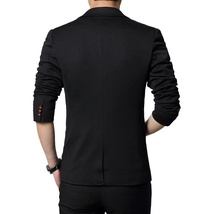 New Fashion Autumn and Winter Men Black Suit Jacket Men's Casual Business Suit J image 10