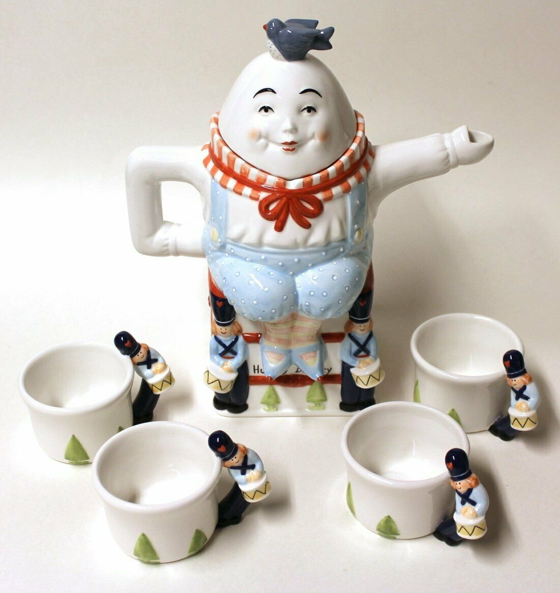 Primary image for HUMPTY DUMPTY TEA POT SET NEW IN BOX DEPARTMENT 56 STORYBOOK COLLECTION
