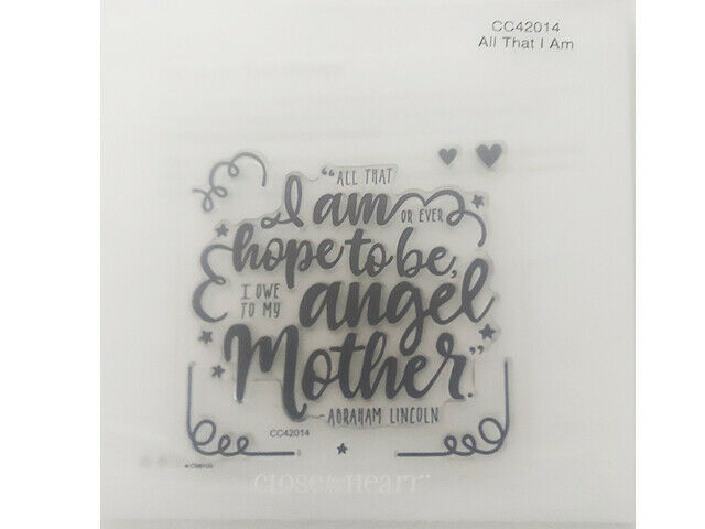 Close to My Heart All That I Am Clear Acrylic Stamp Set #CC42014