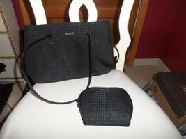 Black Modella handbag and matching cosmetic bag - $11.00