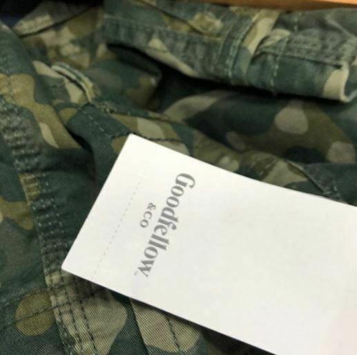 Goodfellow & Co. Men's Cargo Shorts 11.0 Green Camo Size 28