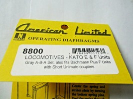 American Limited # 8800 Operating Diaphragms For Kato E & F Units Gray N-Scale image 1