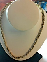 """Beautiful Gold Metal Twisted Rope Necklace Chain 24"""" SKU 070-056 - $12.09"""