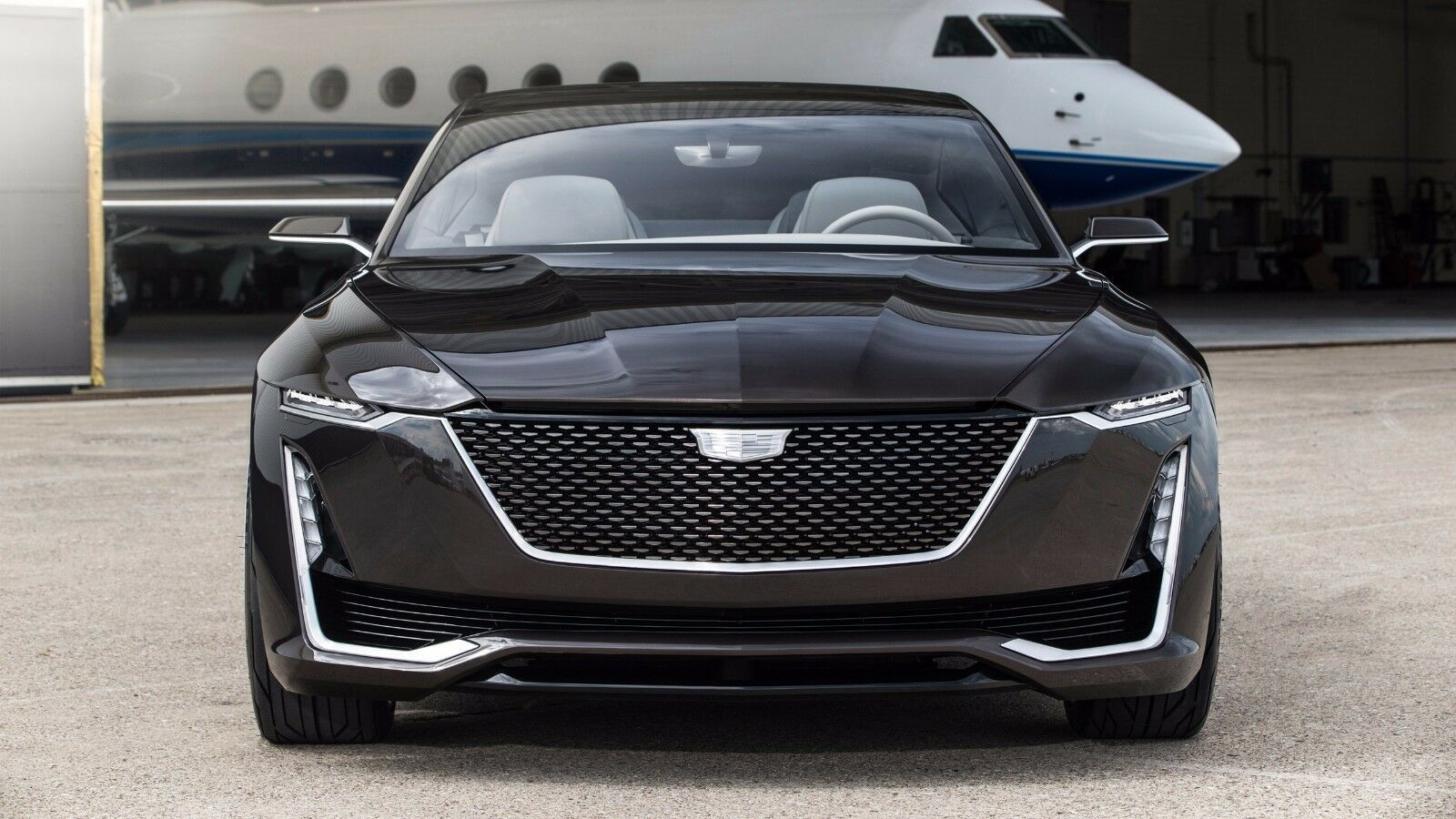 Primary image for 2016 Cadillac Escala Concept 3, 24X36 inch poster, luxury sedan touring