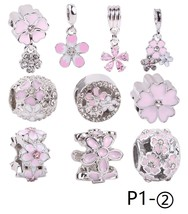 P1_2 Authentic 925 Sterling Silver bead Shine Charms suit pandora bracelets - $6.00
