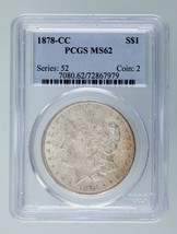 1878-CC $1 Silver Morgan Dollar Graded by PCGS as MS-62! Gorgeous Morgan! - $494.99