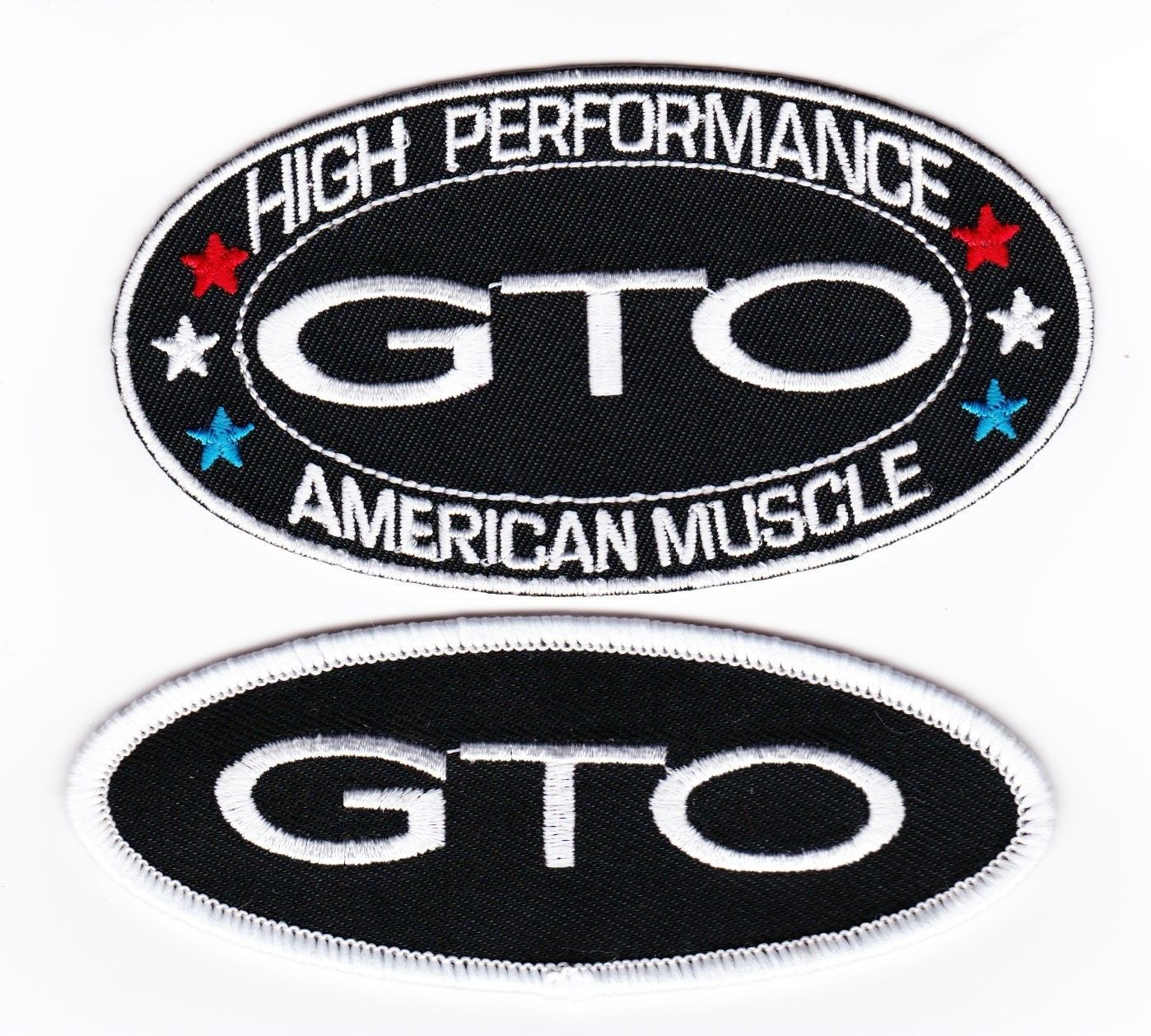 PONTIAC GTO 4 RED WHITE SEW//IRON ON PATCH EMBLEM BADGE EMBROIDERED 5.7L 6.0L