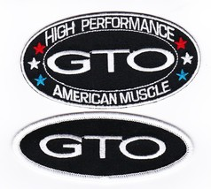 Pontiac Gto Black White SEW/IRON On Patch Badge Embroidered 5.7L 6.0L - $10.99