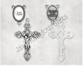 Gold Bronze or Silver Crucifix and Princess Centerpiece Sets for Rosary ... - $5.95
