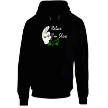 Relax I'm  Slow 420 Canna Hoodie image 2