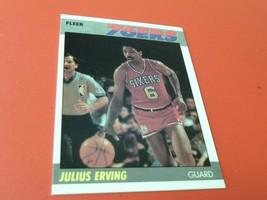 1987 Julius Erving Fleer 76ers Basketball # 35 Mint / Mint + !! - $24.99