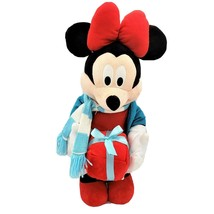 Disney Gemmy Minnie Mouse Plush Christmas Holiday Door Greeter with Gift... - $29.95
