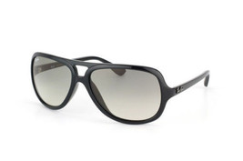 Ray Ban Black Sunglasses RB4162 - 601/32  59MM Gloss Black Frame Grey Lens - $69.29