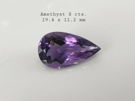 8 cts Natural Amethyst pear shape 19 x 11 from Brazil - $99.00