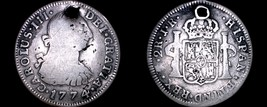 1774-PTS JR Bolivian 2 Reales World Silver Coin - Charles III - Holed - ... - $74.99