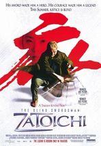 ZATOICHI The Blind Swordsman Movie Promotional Poster 13x20 Takeshi Kitano - $7.99