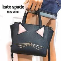Kate Spade Cat Handbag Black Mini Hayden Jazz Things Up Bag NWT - $148.49
