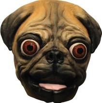 Pug Mask Dog Adult Animal Hand Painted Latex Realistic Halloween TB26539 - $47.99