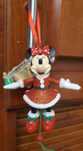Disney Parks Minnie Mouse Marionette Puppet Pull String Christmas Orname... - $22.72