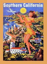 "18x24""Travel Decor Canvas.Home Room Interior design.South California.6601 - $51.43"