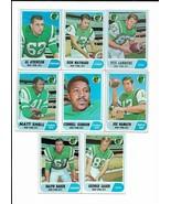 1968 Topps New York Jets Team Set with Joe Namath - $62.50