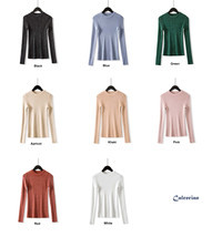 Shiny Lurex Long Sleeve Pullover Womens Basic Sweaters Korean Style Knit... - $15.33