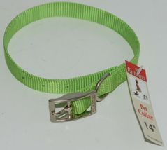 Valhoma 730 14 LG Dog Collar Lime Green Single Layer Nylon 14 inches Package 1 image 4