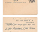 2 44 postal cards ux7 3 unused adverts diff card stock boston light infantry merge thumb155 crop