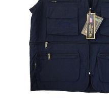 Greyhound Collection Navy Utility Multi-Pocket Zipper Lightweight Vest - 3XL image 3
