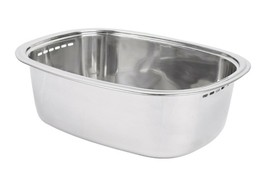 Characin Stainless Steel Dishpan Basin Dish Washing Bowl Tub (Rounded Rectangle)