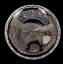 "Waterford Ireland Crystal Cut Glass Round Serving Tray 10-3/4"" Signed Clear LL - $135.44"