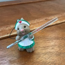 Estate Hallmark Cards Marked Cute Brown Mouse in Green Nurses Outfit Hol... - $9.49