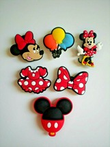 Clog Holes Shoe Charm Minnie Mickey Mouse Plug Button Pins Fit WristBand... - $12.99