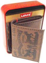 Levi's Men's Premium Leather Credit Card Id Wallet Trifold Brown 31LP1126 image 5