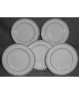 Set (5) Royal Doulton SIMPLICITY PATTERN Bone China Dessert/B&B Plates E... - $39.59