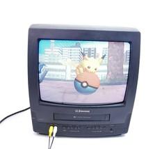 "Vintage Emerson EWC1303 13"" Retro Gaming TV VCR Combo CRT Television No Remote - $139.87"